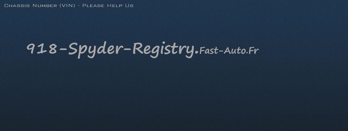 porsche918-registry