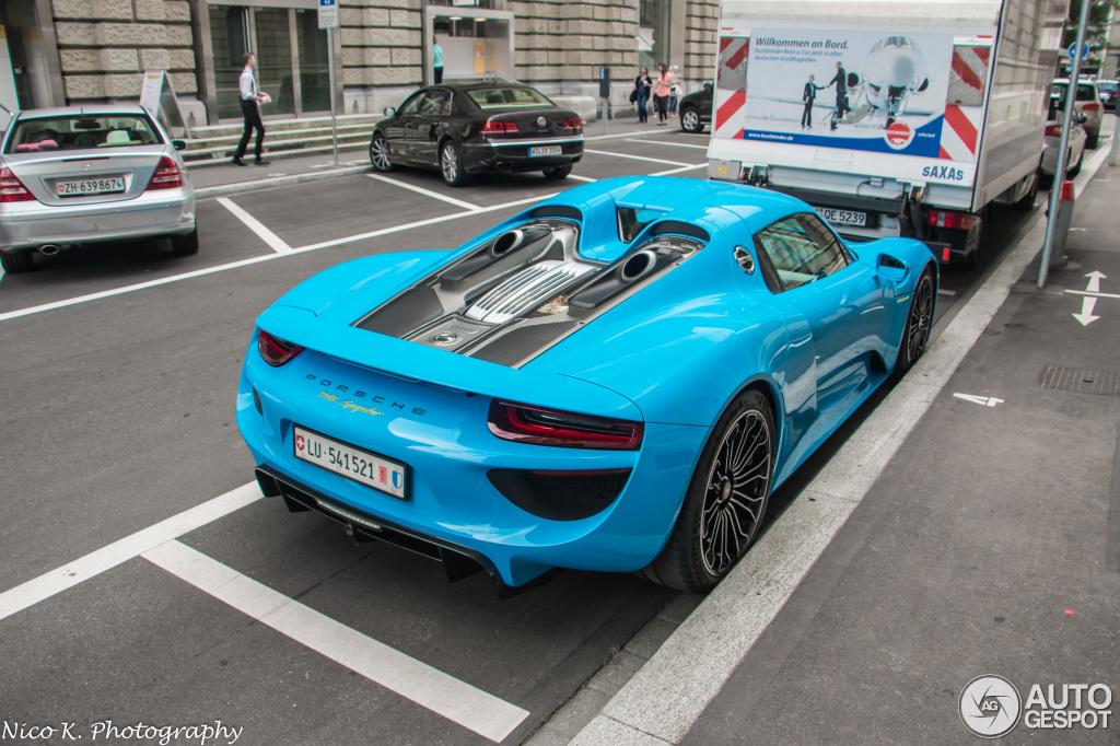 LU 541521 Switzerland 914918 Porsche 918 Spyder